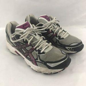 Asics Gel Galaxy 5 White Purple Shoes Size 9.5